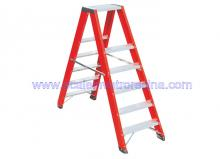 Fiberglass 5 Step Ladders Twin Front 5 ft